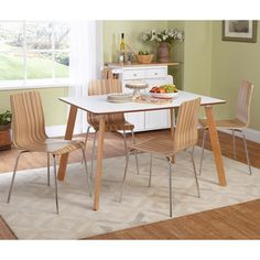 Simple Living 5-piece Beatrice Bentwood Dining Set