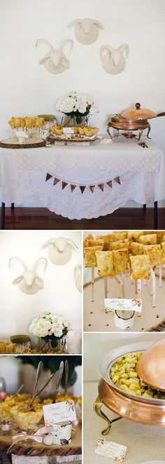 Cozy winter baby shower with cable Knit, birch, and lace details
