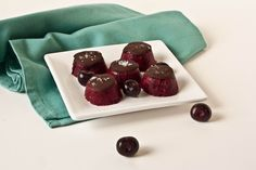 Cherry Sorbet Bites with Chocolate and Sea Salt