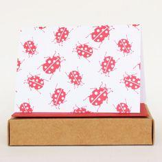 Ladybug Notecard Set | Foxy & Winston