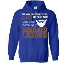 Men's Bearded Legend T-Shirt Funny Gift To Beard Lover And Grower