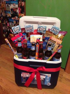The Best Ideas for Birthday Gift Delivery birthday basket.The Best Ideas for Birthday Gift Delivery 21st Birthday Basket, Boyfriends 21st Birthday, 21st Birthday Presents, Adult Birthday Cakes, Birthday Gift Baskets, Happy Birthday, Birthday Diy, 21st Birthday Gifts For Boyfriend, Birthday Beer