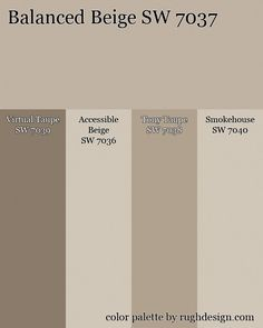 Balanced-Beige-Monochromatic-palette.jpg 600×750 pixels Interior Design Tips, Interior Decorating Tips, Exterior Paint, Exterior Colors, Color Balance, Balanced Beige Sherwin Williams, Color Inspiration, Color Combinations, Taupe