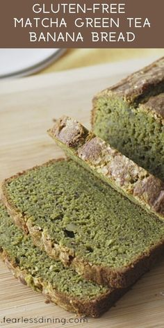 This gluten free matcha green tea banana bread recipe is a delicious breakfast. Easy gluten free banana bread with a kick of matcha. How to cook with matcha green tea.fearlessdinin… Source by Matcha Dessert, Matcha Cake, Green Tea Dessert, Gluten Free Banana Bread, Banana Bread Recipes, Green Tea Recipes, Matcha Green Tea, Smoothie Bowl, Matcha Smoothie