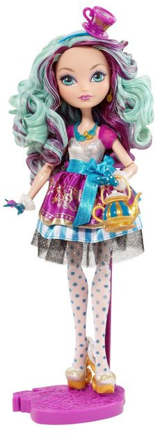 Beautiful Ever After High Madeline Hatter Doll, Rebel Daughter of Mad Hatter, 6+ #Mattel #DollswithClothingAccessories