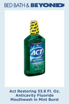Act Restoring 33.8 Fl. Oz. Anticavity Fluoride Mouthwash In Mint Burst #BakingSodaForDandruff Baking Soda Dry Shampoo, Baking Soda Coconut Oil, Baking Soda For Dandruff, Coconut Oil Shampoo, Baking Soda And Honey, Baking Soda Cleaner, Apple Cider Vinegar Shampoo, Honey Shampoo, Baking Soda For Hair