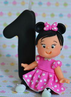 Topo de Bolo infantil c/ vela - Minnie