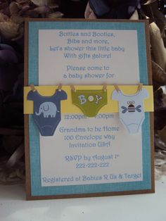 homemade baby shower invitations | Baby Shower Invitations….How Adorable?!