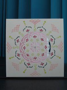 Een kaartje zonder tekst vandaag. Ik maakte dit tijdens de workshopavond met de Eastern Palace bij Maaike op 14 december. Ik heb wel het st...