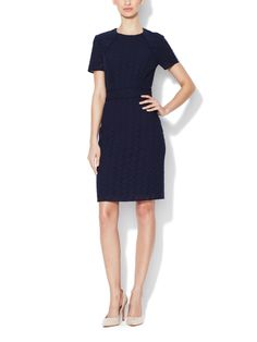 Piped Eyelet Sheath Dress from Dress Shop: Work Dresses on Gilt
