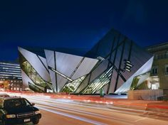 The Michael Lee-Chin Crystal by Daniel Libeskinda and Bregman+Hamann Architects (2007) is an ultra-modern, aluminum and glass, 100,000 sq ft extension to the historical Royal Ontario Museum in Toronto, Canada.