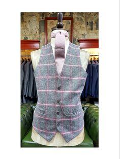 Tweed waistcoat & Tie #wedding #menswear #groom #brideandgroom
