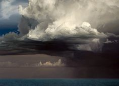 David Warren . Clouds at Coffs Harbour . 2001/10 . oil on linen . 122 x 168 cm