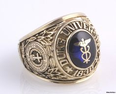 University Class Rings Lovely 1960 Duke University Syn Blue Spinel Caduceus Class Ring - This Mommy Gig Graduation Rings College, College Rings, Graduation Jewelry, Class Rings For Girls, Mens Class Rings, Rings For Men, High School Rings, Engraved Rings, Charms
