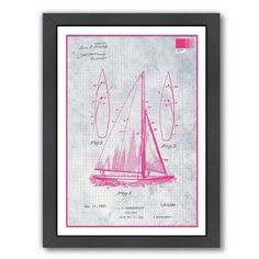 Americanflat Sail Boat by Armand Framed Graphic Art Size: