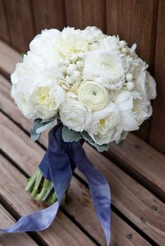 Beautiful white wedding flower bouquet, bridal bouquet, wedding flowers, add pic source on comment and we will update it. www.myfloweraffair.com can create this beautiful wedding flower look.