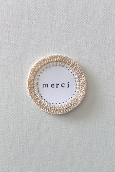 FRENCH TAG Paper Scrapbooking Embellishments Crochet NEUTRAL Handmade. $2.00, via Etsy.