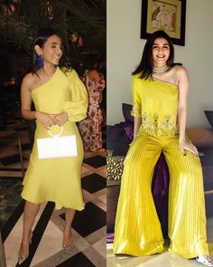 What does your wardrobe have more of, western or Indian looks? 💛 Engagement Dress For Female, Indian Engagement Dress, Engagement Dresses, Indian Look, Bridesmaid Outfit, Wedding Tips, Diva, Bollywood, Yellow