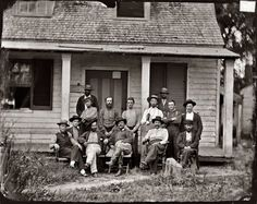 1864 Civil War photo. An interesting variety of smoking materials, headgear and footwear.Taken at  the headquarters of Provost Marshall's department,Petersburg,North Carolina.( Shorpy archive)
