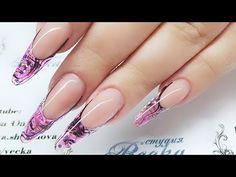 Aquarium design of nails. Hair Beauty, Nails, Nail Art, French, Youtube, Gel Nail Art, Manicure, Finger Nails, Ongles