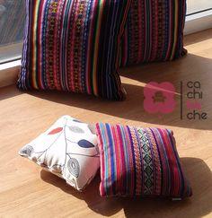 La belleza del aguayo aymara en piezas decorativas. Almohadones #cachiBAche.