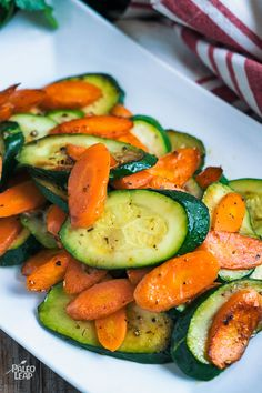Carrots and zucchini sautéed in olive oil with an abundance of spices, really do make dinner come alive. Perfect when paired with an entire baked chicken.