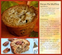 The Lazy Gourmet: Pecan Pie Muffins
