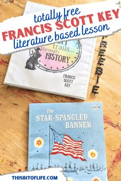 Learn all about the Star Spangled Banner and the man behind the song with this free Francis Scott Key lesson. Learn history with this literature based lesson on Francis Scott Key. Literature based history lesson. Free history lesson. Charlotte Mason inspired history. Free homeschool history lesson. #homeschool #historylesson Hands On Activities, Fun Activities, Francis Scott Key, Art Studies, Social Studies, Star Spangled Banner, Us History, Good Books, Literature