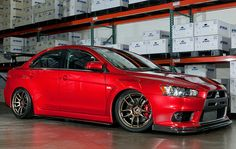 EVO X sitting on Work Emotion CR's. Can't go wrong with a pair of Work shoes am I right?   (Photo credit: Work Wheels USA)