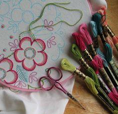 Broderie avec modèle / Embroidery with pattern / Wzor do wyszywania
