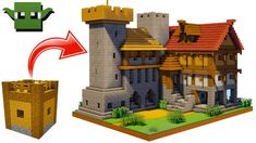 Minecraft Medieval Fortified House Tutorial (EASY 5X5 BUILDING SYSTEM) - YouTube