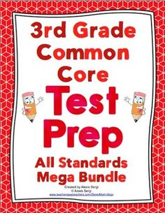 Grade Common Core Math Test Prep - All Standards Mega Bundle Common Core Math Standards, Common Core Ela, 4th Grade Math Test, Math Classroom, Classroom Ideas, Classroom Organization, Test Taking Skills, Evaluation, Daily Math
