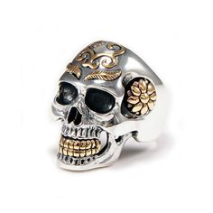 Cheap Silver Rings For Women Code: 5071578785 Skull Wedding Ring, Skull Engagement Ring, Silver Skull Ring, Skull Rings, Unique Silver Rings, Sterling Silver Rings, Unusual Rings, Crane, Sunflower Jewels