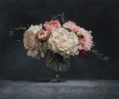 Candice Bohannon, August Peonies, oil, 15 x 18.