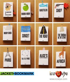We love these book jackets and matching book marks to jazz up any over-used copies of your favourite books. Aren't they cool?