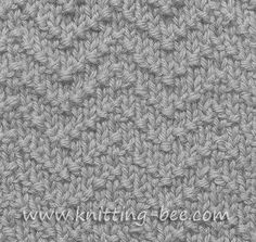 Chevron Seed Stitch Knitting Pattern