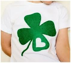 DIY homemade St Patrick's Day shirt from felt and a t-shirt