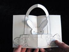 DIY Pop-Up Easter Basket by Matthew Reinhart dla dziecka Diy Easter Cards, Easter Crafts For Kids, Diy Cards, Matthew Reinhart, About Easter, Up Book, Pop Up Cards, Craft Stick Crafts, Paper Crafts