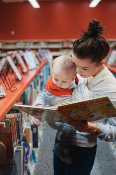 Should there be a baby someday, we will go to the library ALL THE TIME. And it will look like this.