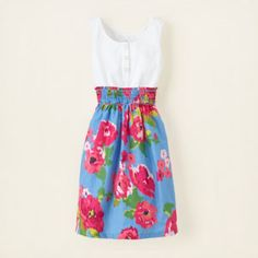 They always make the cutest clothes for little girls... I am going to try to replicate this using a tank and an elastic waist skirt or tube dress.