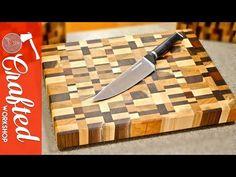 Making a Walnut End Grain cutting board - YouTube