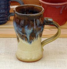 HANDMADE BEER MUG TEA GLASS BEER STEIN BEER STINE Gauley River Pottery WV specializes in handcrafted stoneware and handmade ceramics.