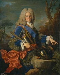 """""""Retrato del rey Felipe V de España"""" (1683-1746; r. 1700-1724), el primer rey de la Casa de Borbón en España, de Jean Ranc (1674-1735)"""