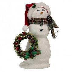 Byers' Choice Snow Day Fun, Snowman with Wreath