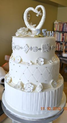 25th wedding anniversary cakes - Google Search