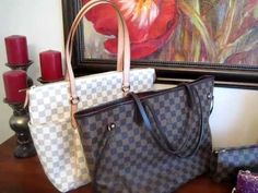 Louis Vuitton Azur Totally MM versus Damier Neverfull MM - Handbag comparison