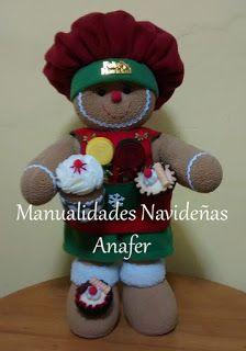 Manualidades Anafer: Señor y Señora Jengibres Cupcake Videos, Fancy Cupcakes, Christmas Cupcakes, Christmas Makes, Polar Fleece, Favorite Holiday, Cute Couples, Gingerbread, Snowman
