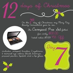 Mary Kay 12 Days of Christmas To order colors or any other Mary Kay products or to have a complementary makeover-try-before you buy contact me