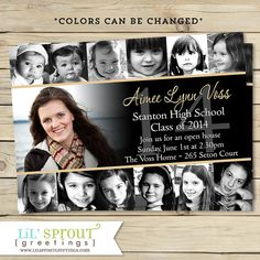 Collage Style Graduation Announcement by lilsproutgreetings, $22.00