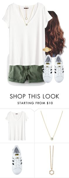 """Green"" by aweaver-2 on Polyvore featuring H&M, Links of London, adidas, Astley Clarke and Michael Kors"